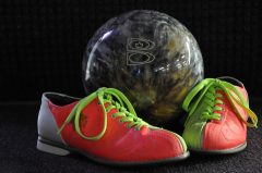 ball with bright shoes